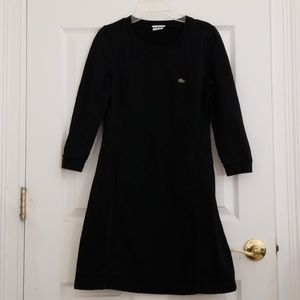 Lacoste Long sleeves Black Dress size 36